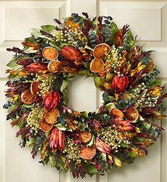 Autumn Breeze Wreath   Home Decorating   1800FLOWERS.COM-97823
