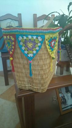 Straw Bag, Crocheting