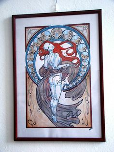 lovely piece done in ink and watercolours #art #nude #sci-fi #artNouveau sold