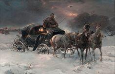 Alfred von Wierusz-Kowalski [1849-1915] Polish painter of the Munich School