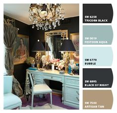 """Love these Sherwin Williams colors. """"Chip it"""" Now you can get their app and have paint chips on your phone! So helpful when you go to the store to buy decor, bedding, etc."""