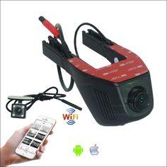 For Skoda Fabia 1 2 Car Dash Cam APP Control Car Wifi DVR G-sensor Novatek 96658 FHD 1080P Dual Lens Car Black Box