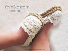Crochet Baby Booties CROCHET PATTERN Baby Girl Espadrille Shoes by YarnBlossomBou...