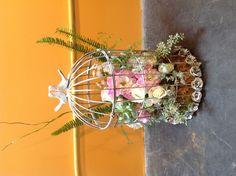 Birdcage arrangement by Bespoke Custom Floral and Event Design