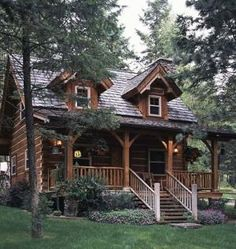 Standout Small Log Cabin Plans . . . BIG THINGS in small packages!