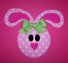 easter bunny applique