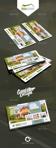 #Real Estate #Business #Card Templates - Corporate Business Cards