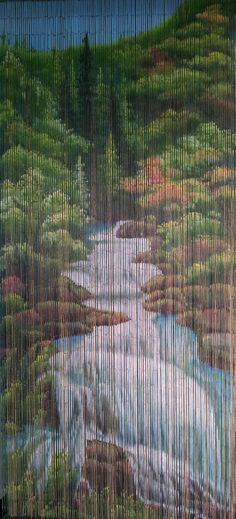 Mountain Stream Beaded Curtain 125 Strands Hanging Hardware 65 19