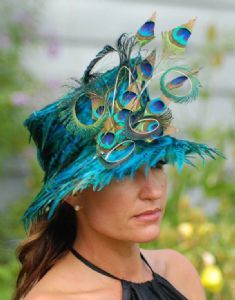 peacock hat