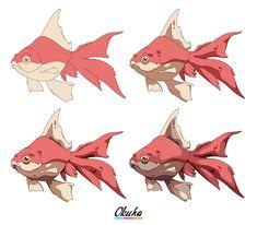 Friendly Fishes Shading https://okuha.com via @https://pinterest.com/Okuha_Art