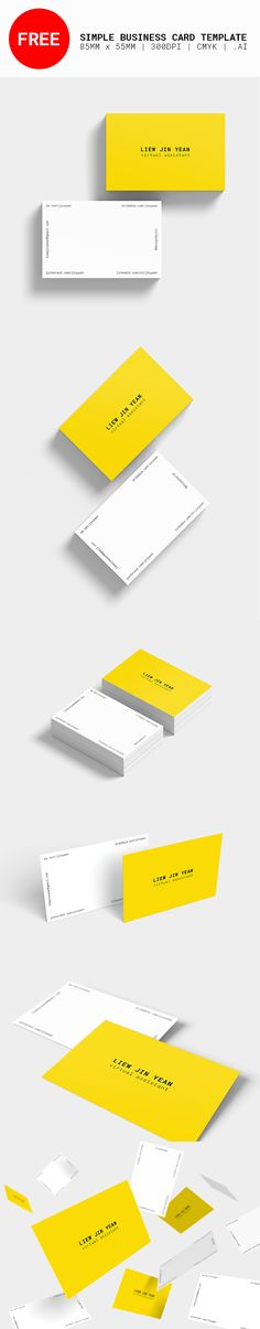 Very Simple Minimalism touch Corporate Business Card Draft Liner - name card format