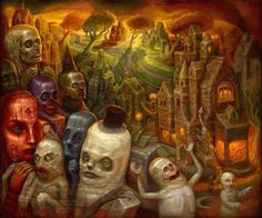 """""""Cesium Sunset"""" - Oil painting by Chris Mars: http://chrismarspublishing.comInterview with Chris Mars: http://beinart.org/interview-chris-marsbeinArt Surreal Art Collective: http://beinart.org"""