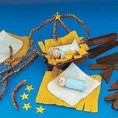 craft for Advent - Away in a Manger (no instructions here just picture)