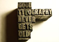 Good typography never gets old