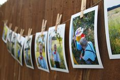 A way to display photos at a party by The sTORIbook blog