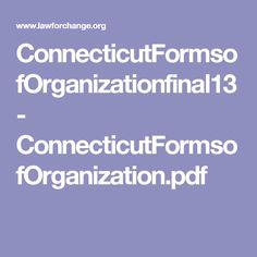 ConnecticutFormsofOrganizationfinal13 - ConnecticutFormsofOrganization.pdf