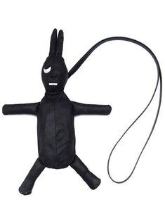 RICK OWENS - BAGS - Rick Owens Fat Bunny, Calf Leather, Black Leather, Mink Fur, Dark Fashion, Rick Owens, Calves, Shoulder Strap, Long Hair Styles