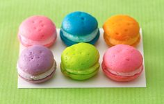 Rainbow Whoopie Pies. I love the way they look, but have always been scared of eating food coloring.