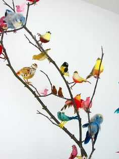 Display your new or vintage birds on a real branch