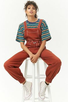 Shop Forever collection of trendy women's overalls and coveralls. Browse pinafore dresses, denim overalls, overall shorts, and more! Vintage Outfits, Retro Outfits, Cool Outfits, Summer Outfits, Casual Hipster Outfits, Fashion Vintage, Fashion 90s, Fashion Outfits, Unisex Fashion