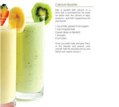 Calcium-Booster recipe from The Big Book of Juices and Green Smoothies by Cherie Calbom