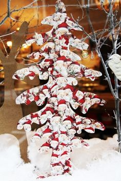 Servitkovacia technika - vianocny stromcek #diy #crafts