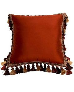Canaan Company Silk-Suede Henna Square Pillow