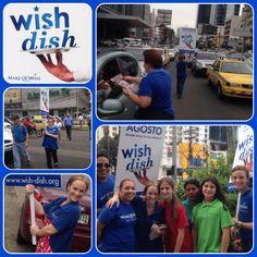 1er volanteo del #WishDish Accesa ya a www.wish-dish.org y escoge tu restaurante y plato para hoy. ¡Ayudar nunca fue tan delicioso!