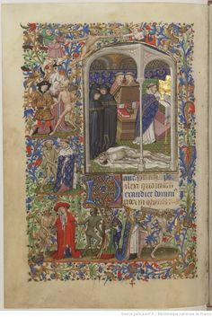 HORAE Beatae Mariae Virginis. Ms. in-4 on vellum of 171 f. (Height 212, width 148 mm.), Velvet r., Tr. Golden. (Modern Relation.)   Gallica