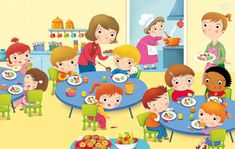 Lunchroom I have lunch Kindergarten Math Worksheets, Preschool Activities, School Clipart, Picture Story, Cartoon Kids, Cute Illustration, Kids Education, Classroom Decor, Kids And Parenting