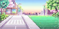 cute kawaii scenery pixel art pixel pixel scene pixel background pixel scenery…