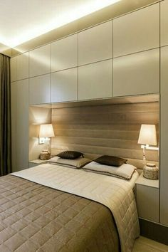 Modern Bedroom storage - Bedroom Design Ideas 8 Ways To Create The Ultimate Bed Surround With Storage. Small Master Bedroom, Bedroom Bed, Bedroom Apartment, Bedroom Decor, Apartment Therapy, Small Bedroom Storage, Bed Rooms, Bedroom Lighting, Over Bed Lighting