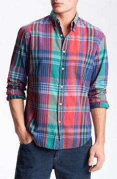 Gant Rugger India Madras Plaid Shirt available at #Nordstrom