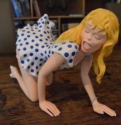 Milo Manara - Demons & Merveilles - Grootte 45 cm - Groot beeld van honingpotje