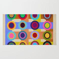 Textures/Abstract 60 Area & Throw Rug by ViviGonzalezArt - $28.00