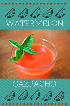 Who would have thought gazpacho could be even more refreshing than it already was? This easy watermelon gazpacho recipe is the perfect treat for summer! Spanish Desserts, Spanish Cuisine, Spanish Food, Spanish Recipes, Tapas Recipes, Sangria Recipes, Wine Recipes, Watermelon Gazpacho Recipe, Recipes