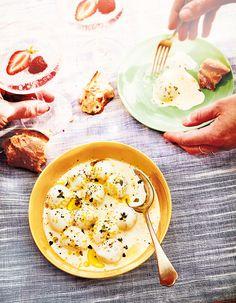 Mozzarella marinée à la crème et au citron pour 4 personnes - Recettes Elle à Table