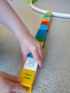 Math for toddlers and preschoolers using Mega Bloks.