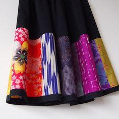 Japanese Embroidery Kimono I love my new creation thanks Dr.k giving me an opportunity to make it. Batik Dress, Kimono Dress, Dress Skirt, Shirt Makeover, Kimono Fashion, Skirt Fashion, Fashion Outfits, Dandiya Dress, Ghaghra Choli