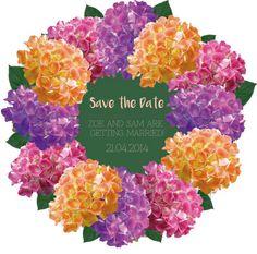 Floral Wedding Save the Date invitation  https://www.etsy.com/au/listing/254451022/floral-printable-wedding-invitation-save