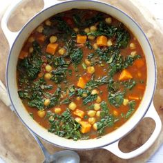 Kale and Chickpea Stew with Warm Spices! Kale is particularly great for detoxifying the body and keeping the liver happy!