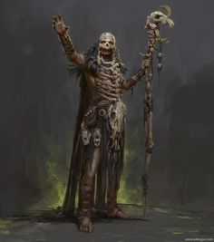 Morbid Fantasy — Barbarian Shaman by Russell Dongjun Lu Fantasy Kunst, Fantasy Rpg, Medieval Fantasy, Fantasy Artwork, Fantasy Art Male, Fantasy Character Design, Character Concept, Character Art, Concept Art