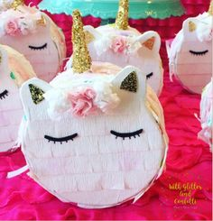 Unicorn Birthday Unicorn Mini Pinata by With Glitter & Confetti Party Boutique https://www.etsy.com/shop/withglitternconfetti