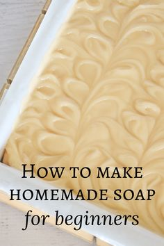 Want to learn how to make soap from scratch? This how to make homemade soap for beginners guide will show you how. It will walk you through everything you need to know to make all natural soap from scratch. Ready to learn how? Pin to save, then click over to my farm blog for the ultimate cold process soap making guide and learn how to make homemade soap for beginners. Best Bar Soap, Handmade Soap Recipes, Potpourri Recipes, Soap Making Supplies, Organic Soap, Homemade Products, Bath Products, How To Make Homemade, Cold Process Soap