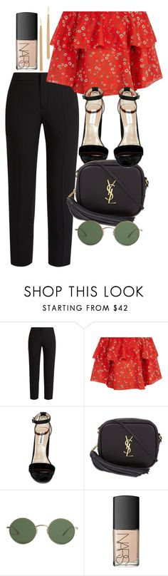 """Untitled #4776"" by olivia-mr ❤ liked on Polyvore featuring Chloé, Alice + Olivia, Steve Madden, Yves Saint Laurent, The Row, Jules Smith and NARS Cosmetics"