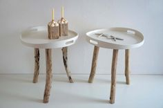 ~~SEA SERVANTS*~~Tablett-Tisch mit Treibholz von manunatura auf DaWanda.com