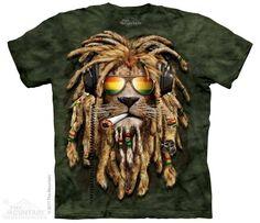 koszulka THE MOUNTAIN - SMOKIN JAHMAN, barwiona - sklep RockMetalShop.pl