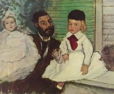 Comte Le Pic and his Sons - Edgar Degas