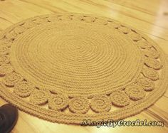 Exclusive Jute Rug Retro Style / Braided style Floor by GreatHome