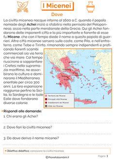 Learning Italian, Ancient History, Problem Solving, School, Creta, Video, Montessori, Ale, Geography